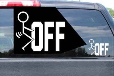 Fuck Off Sticker Vinyl Die Cut Decal