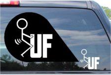 Fuck UF Sticker Vinyl Die Cut Decal