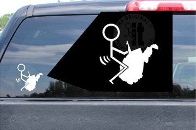 Fuck West Virginia Sticker WV Vinyl Die Cut Decals