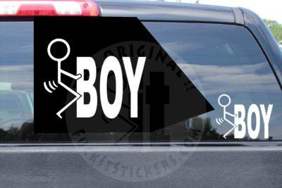 Fuck Boy Decal Die Cut Vinyl Sticker